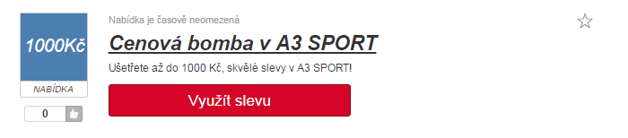 Slevový kód a3sport.cz
