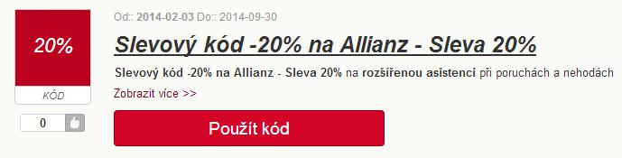 Sleva Allianz