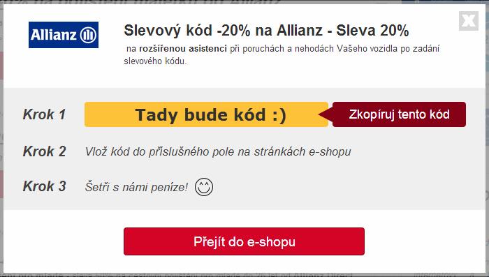 Allianz slevový kupón