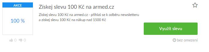 Využití slevy na armed.cz
