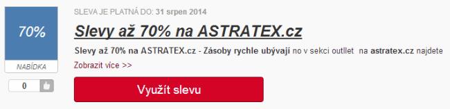 Sleva bez slevového kódu ASTRATEX