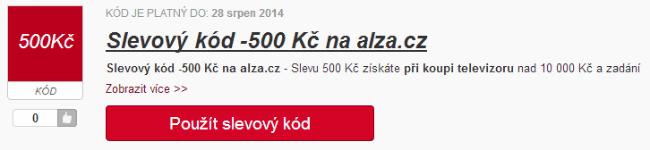 Slevový kód 500 Kč alza