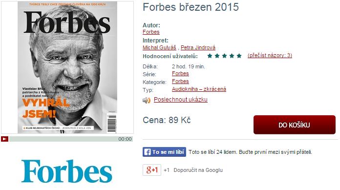 Slevové kódy pro časopis Forbes