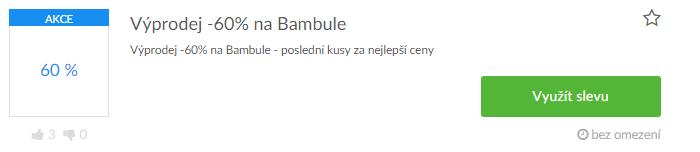 Slevové kódy Bambule