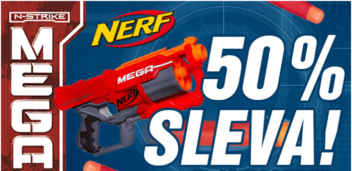 50% sleva na NERF
