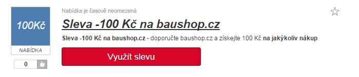 Využití slevy na baushop.cz