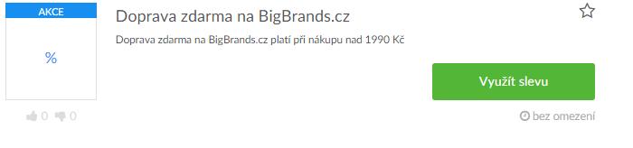 Využití slevy bigbrands.cz