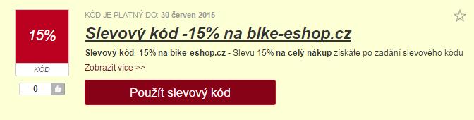 Výběr slevy na bike-eshop.cz