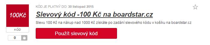 Využití slevy na boardstar.cz