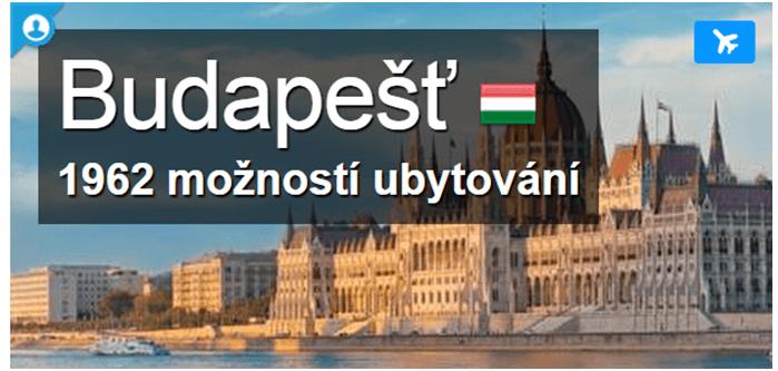 Sleva na ubytování Budapěšt na booking.com