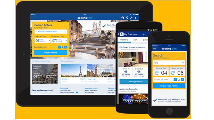 Aplikace booking.com