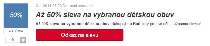 Sleva bez slevového kódu na baťa.cz