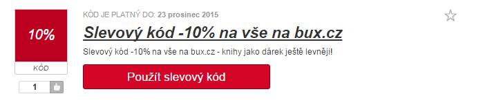 využití slevy bux.cz