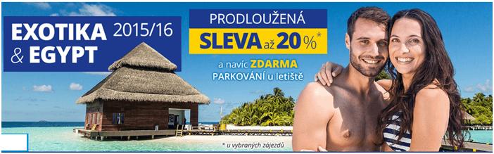 Sleva 20% na dovolenou cedok.cz