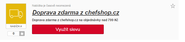 Výběr slevového kuponu na chefshop.cz