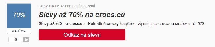 Slevy na crocs.eu