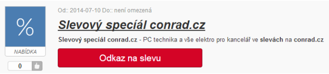 Slevy bez slevového kódu Conrad