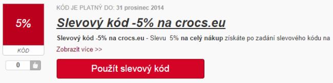 Slevový kód crocs