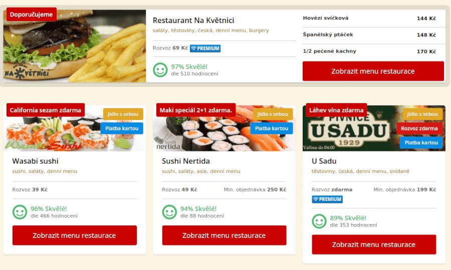 jak objednat jídlo na damejidlo.cz