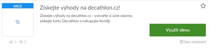 využití slevy decathlon