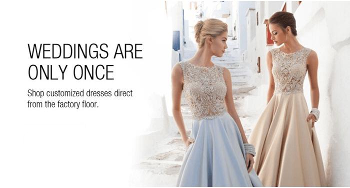 Svatební šaty levně na DHgate.com