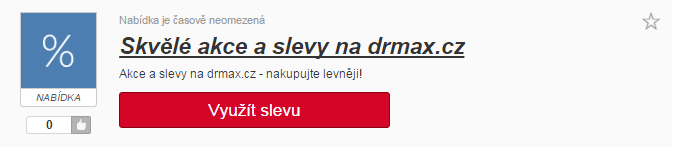 Využití slevy na drmax.cz