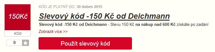 Deichmann slevový kód