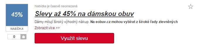 využití slevy eobuv.cz