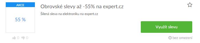 Využití slevy na expert.cz