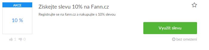 využití slevy Fann.cz