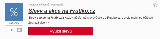 Sleva na Frutiko.cz