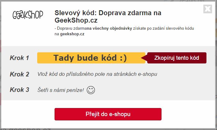 Slevový kupón geekshop.cz