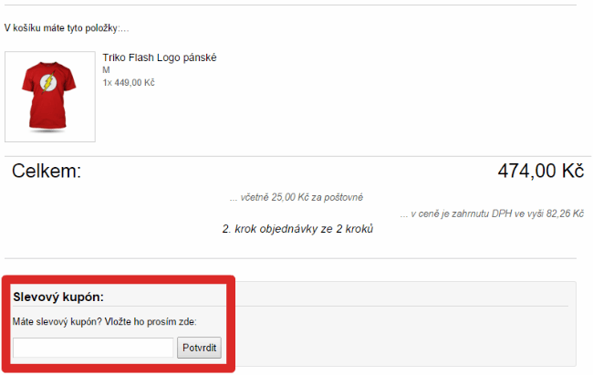 Jak použít slevový kód na geekshop.cz