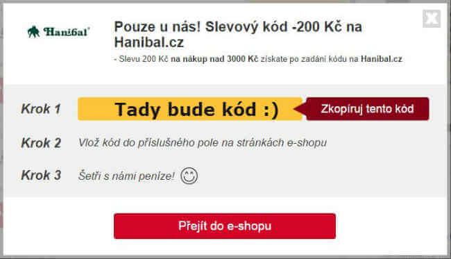 Slevový kupón hanibal.cz