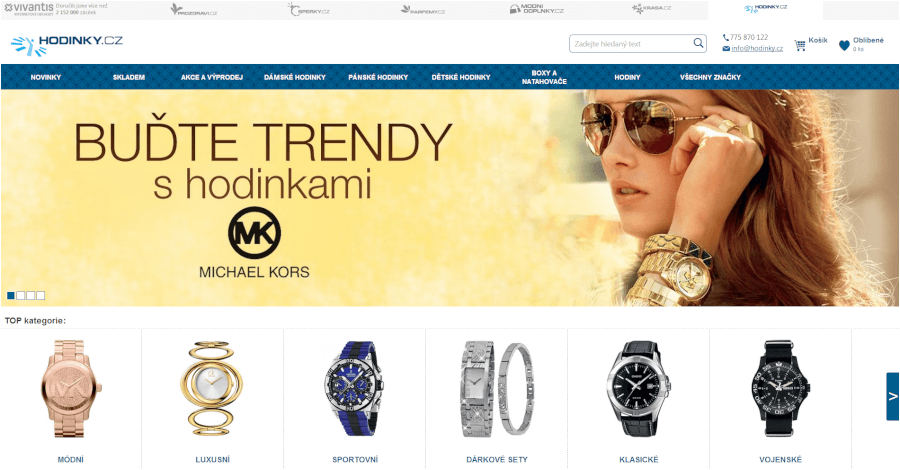 e-shop hodinky.cz