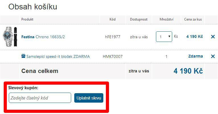 Jak využít slevové kódy na Hodinky.cz
