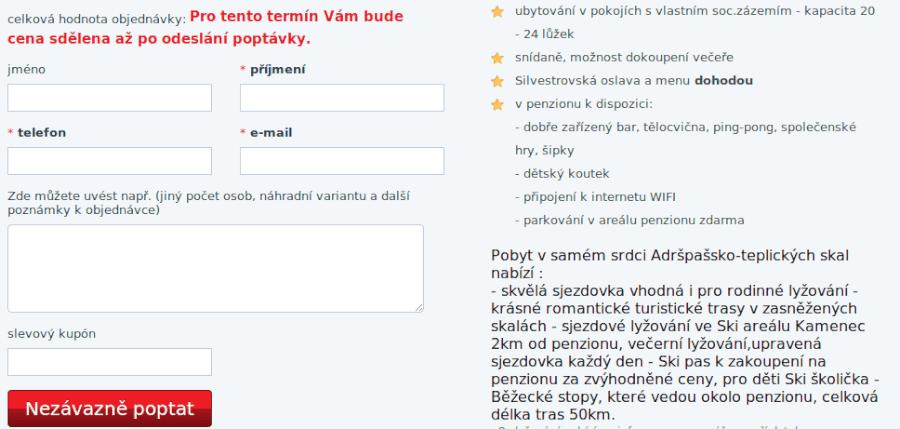 zadání hotely.cz slevového kódu