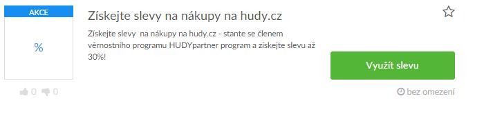 Využití slevy Hudy.cz