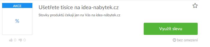 Využití slevy na idea-nabytek.cz