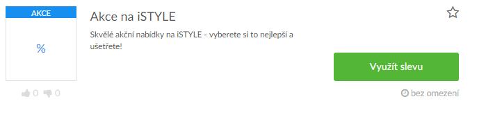 využití slevy na istyle.cz