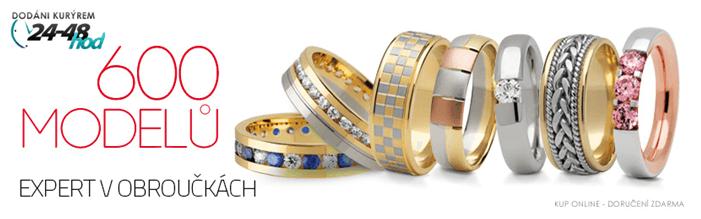 Sleva na prsteny z bíleho zlata