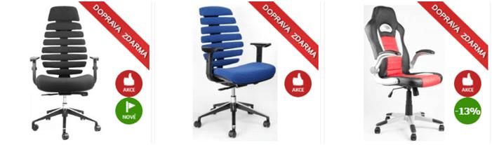 Kancelářské židle levně