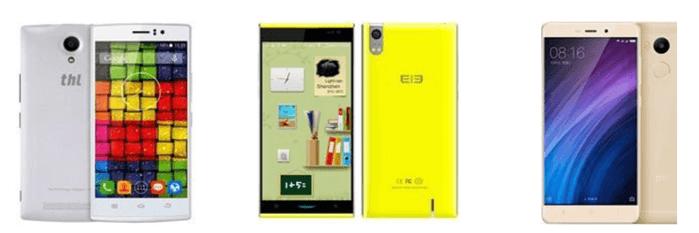 Mobilní telefony z Číny za nízké ceny