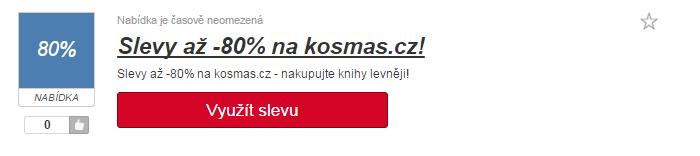 využití slev na kosmas.cz