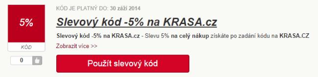 Slevový kód 5% krasa.cz