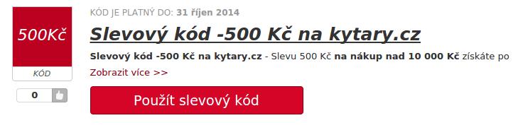 slevovy kod na hudební nástrone na webu kytary.cz