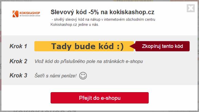 Slevový kupón Kokiskashop.cz
