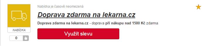 Využití slevy lekarna.cz
