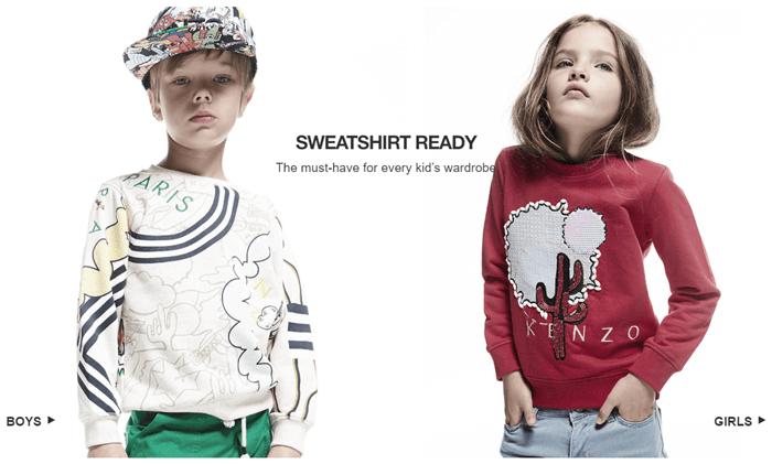 Dětská italská móda za nízké ceny