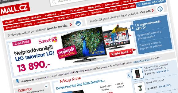 hlavní stránka mall.cz